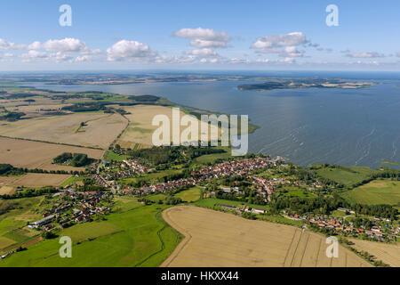 Boddengewässer Ost, Lassan, Peenestrom, Baltic Sea, Mecklenburg-Western Pomerania, Germany - Stock Photo