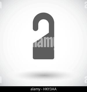 Door tag. Single flat icon on white background. Vector illustration. - Stock Photo