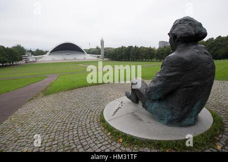 Gustav Ernesaks Statue at Song Festival Grounds, Tallinn, Estonia - Stock Photo