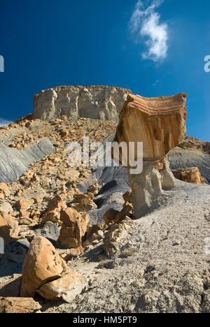 Nipple Bench massif at Staircase-Escalante Nat Monument from Smoky Mountain Road near Lake Powell, Glen Canyon Area, - Stock Photo