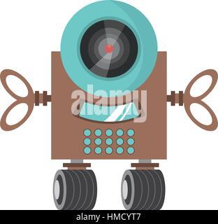 robot surveillance machine information vector illustration eps 10 - Stock Photo