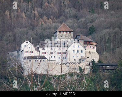 Vaduz Castle in Liechtenstein. - Stock Photo