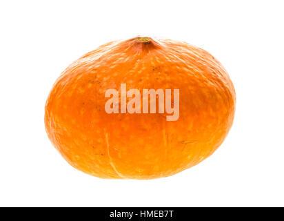Red kuri squash - Orange Hokkaido pumpkin isolated on white. Uchiki Kuri Squash, Japanese Squash or Baby Red Hubbard - Stock Photo