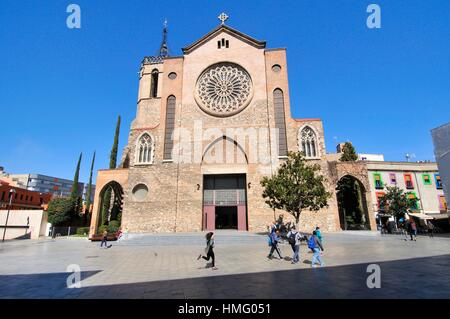 Church of San Esteban, Sant Esteve, the largest temple of Granollers, province of Barcelona located in the center - Stock Photo