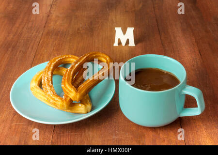 Various types of pasta on white marble table with flour - Stock Photo