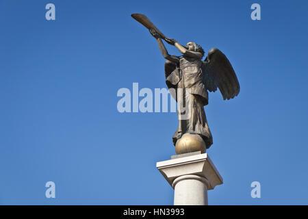 Užupis Angel sculpture, Vilnius, Lithuania - Stock Photo