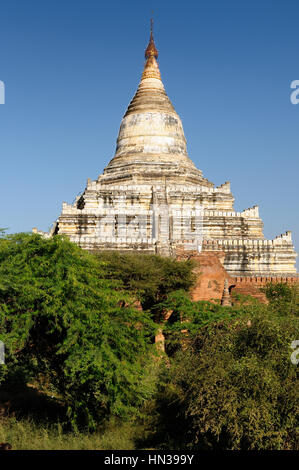 Bagan,Shwesandaw Paya Temple, the most important temple in Bagan, Myanmar - Stock Photo