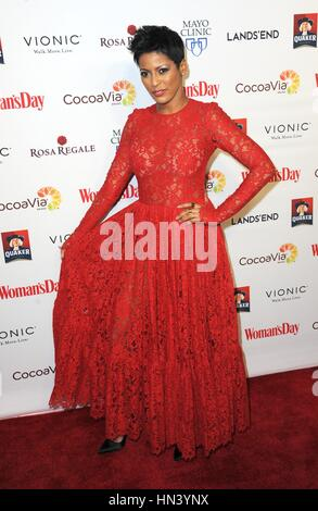 New York, NY, USA. 7th Feb, 2017. Tamron Hall at arrivals for Woman's Day Celebrates 14th Annual Red Dress Awards, - Stock Photo
