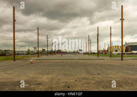 RMS Titanic was built at Slip Number 3 in the former Harland & Wolff shipbuilders, Titanic Quarter, Belfast, Northern - Stock Photo
