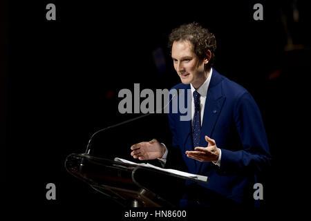 Turin, Italy. 2017, 9 february: John Philip Jacob Elkann, Italian businessman and chairman of Italiana Editrice - Stock Photo
