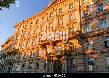 Wien, Vienna, Palais Liechtenstein with the embassies of Italy and Liechtenstein, 01. Old Town, Wien, Austria - Stock Photo