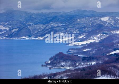 Lake Toya,Shikotsu-Toya National Park,Hokkaido,Japan - Stock Photo