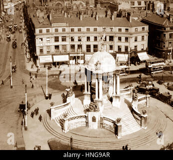 St. George's Circus, Lord Street, Liverpool - probably 1920s - Stock Photo