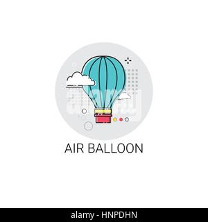 Air Balloon Trip Travel Tourism Icon - Stock Photo