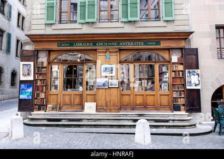 La Librairie Ancienne, Geneva, Switzerland, - Stock Photo