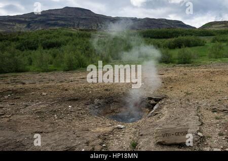 Geyser, Litli, steam - Stock Photo