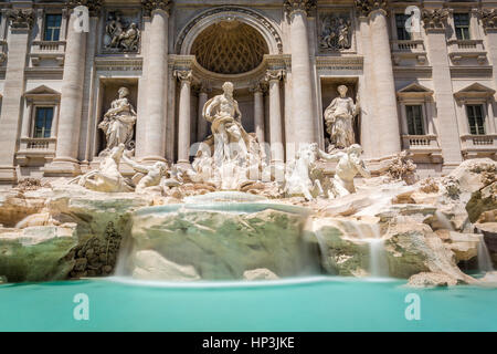 Trevi Fountain, Fontana di Trevi, landmark, Rome, Lazio, Italy - Stock Photo
