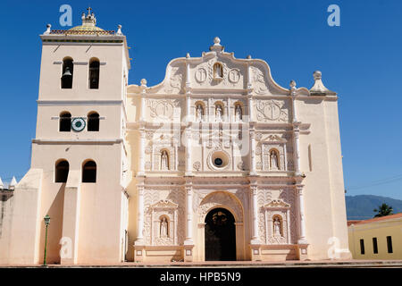 Honduras, View on the colonial Cathedral of Comayagua in Comayagua city in In Middle America - Stock Photo