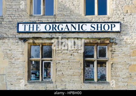 The Organic food shop in Stow-on-the-Wold in the Cotswolds - Stock Photo