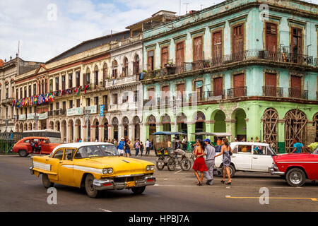 Cuba Havanna Habana Oldtimer , Kuba - Stock Photo