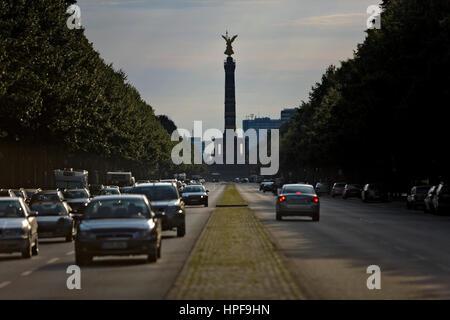 Tiergarten. Column of the victory.Berlin. Germany - Stock Photo