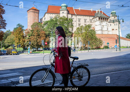 Wawel Royal Castle On Wawel Hill, Krakow Poland - Stock Photo