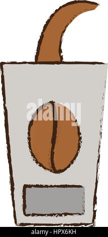 skecth cup coffee to go - Stock Photo