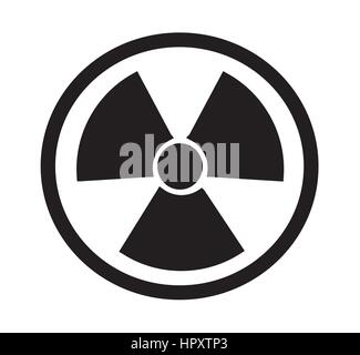 Radiation sign icon vector isolated white background. - Stock Photo
