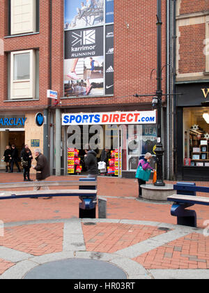 Sports Direct International plc, United Kingdoms largest sporting retailer, established by Mike Ashley in 1982 - Stock Photo