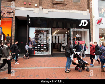 JD Sports Fashion plc sporting retailer, established by John Wardle and David Makin in 1981 - Stock Photo