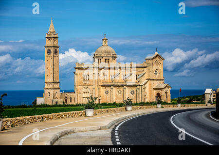 The Basilica of the National Shrine of the Blessed Virgin of Ta' Pinu - Stock Photo