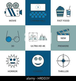Stock Vector Linear icon movie - Stock Photo