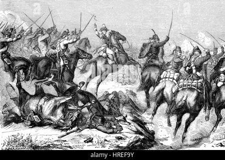 Friedrich Wilhelm Freiherr von Seydlitz, 1721 - 1773, was a Prussian officer and one of the greatest German cavalry - Stock Photo