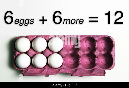 6 More Eggs Equals a Dozen - Stock Photo