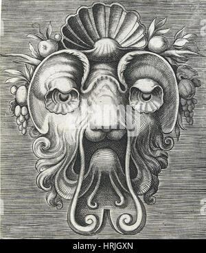 Flemish Mask, 1555 - Stock Photo