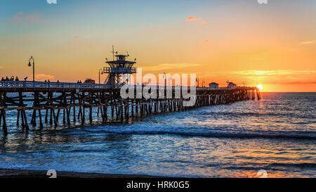 Pier on the beach - Stock Photo