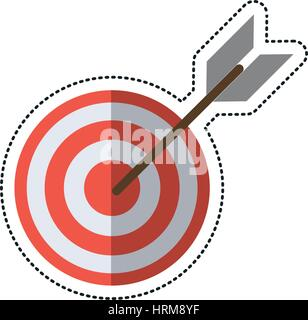 cartoon target arrow strategy market - Stock Photo