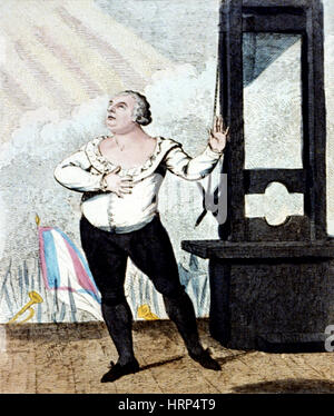 French Revolution, Execution of Louis XVI, 1793 - Stock Photo