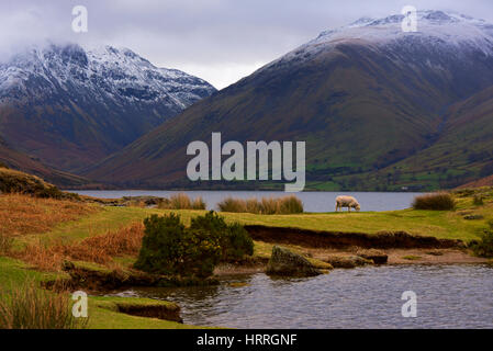 Wastwater and Wasdale, Lake District National Park, Cumbria, England UK - Stock Photo