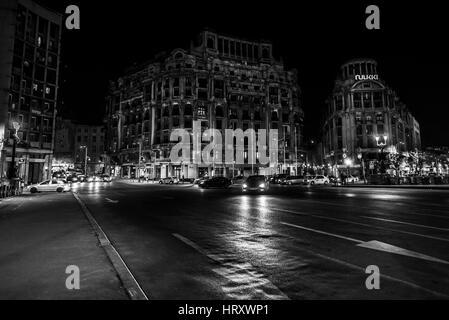 United Nations Square, Bucharest, Romania - Stock Photo