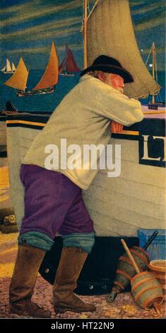 'The Old Fisherman', 1903. Artist: Joseph Edward Southall. - Stock Photo