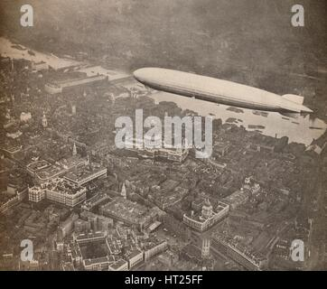 'The tour of the Graf Zeppelin over Great Britain, August 1931', 1931 (1935). Artist: Unknown. - Stock Photo
