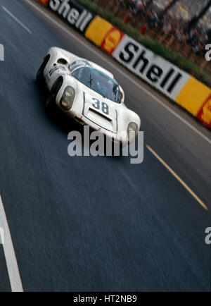 Porsche 910-6 driven by Stommelen - Neerpasch, 1967 Le Mans Artist: Unknown. - Stock Photo