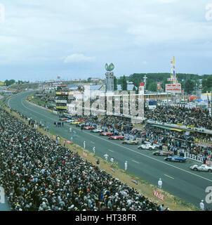 1966 Le Mans start. Artist: Unknown. - Stock Photo