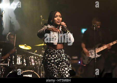 Ray BLK live at the Village Underground, London on 27th February 2017 - Stock Photo