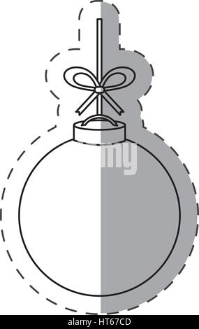 christmas ball decoration cut line - Stock Photo