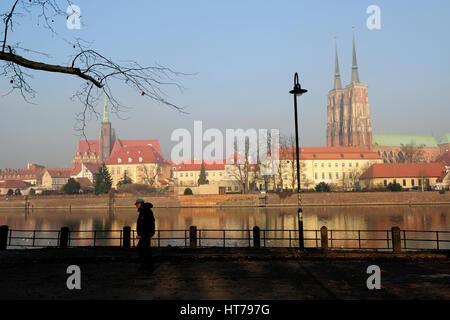 breslau, buildings, cathedral, cathedrals, church, churches,travel, tumski, wroclaw, photo kazimierz jurewicz,polska, - Stock Photo