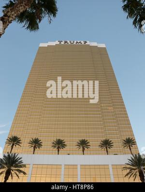 Las Vegas, USA - October 26, 2016:  Trump International Hotel in Las Vegas, NV seen in evening light.  Named for - Stock Photo