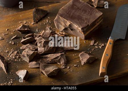 Organic Semi Sweet Dark Chocolate Chunks for Baking - Stock Photo