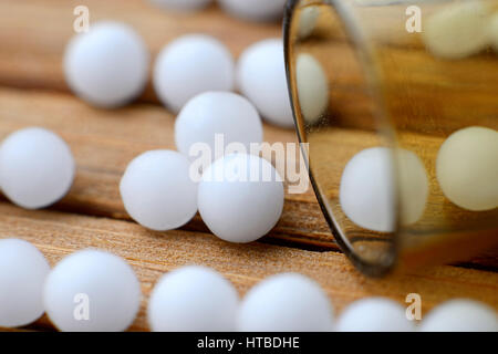 Globules, homeopathic remedy - Stock Photo